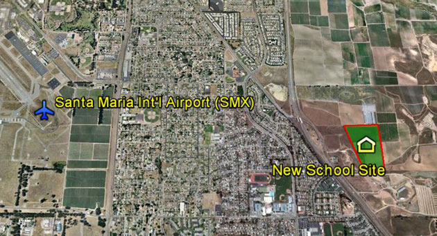 <p>The Santa Maria Joint Union High School District is pursing a parcel on the east side of Highway 101 for a possible new campus with an emphasis on technical careers and agriculture education.</p>
