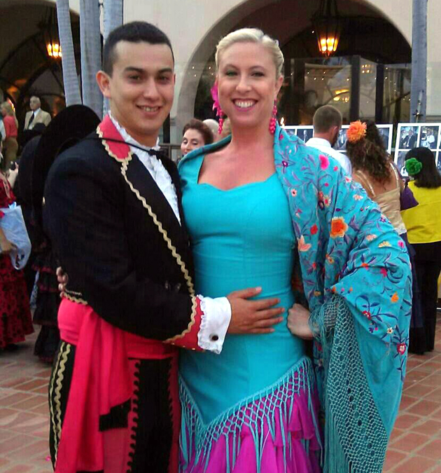 <p>Boris Palencia and Thea Vandervoort, both active with Old Spanish Days Fiesta, plan to wed April 19.</p>