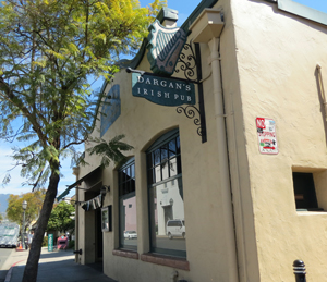 Dargan's Irish Pub and Restaurant is at 18 E. Ortega St. in Santa Barbara. Owner Paul Dargan recently bought the building with the help of a federal program. (Gina Potthoff / Noozhawk photo)