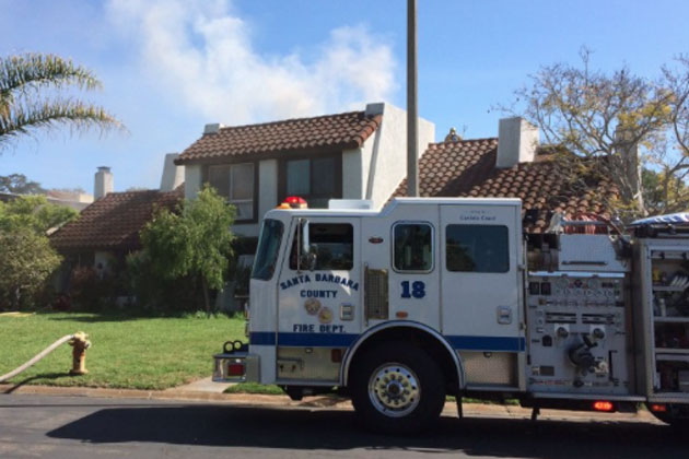Two units were left uninhabitable Monday by a fire at a four-plex near More Mesa. No injuries were reported.
