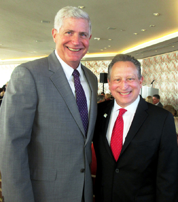 Cottage Health President/CEO Ron Werft, left, and Ron Gallo, Ed.D., president and CEO of the Santa Barbara Foundation, spoke at the annual luncheon celebration.