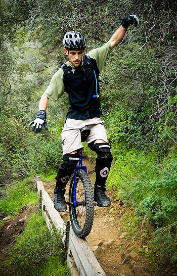 Eyal Aharoni rides the straight and narrow.