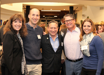 From left, Julie Sorenson, Katherine Harvey Fellows alumni coordinator; Ken Saxon, Leading From Within founder; Ron Gallo, CEO of the Santa Barbara Foundation; Jim Morouse, Katherine Harvey Fellows instructor; and Dawn Mitcham, Katherine Harvey Fellows alumna.