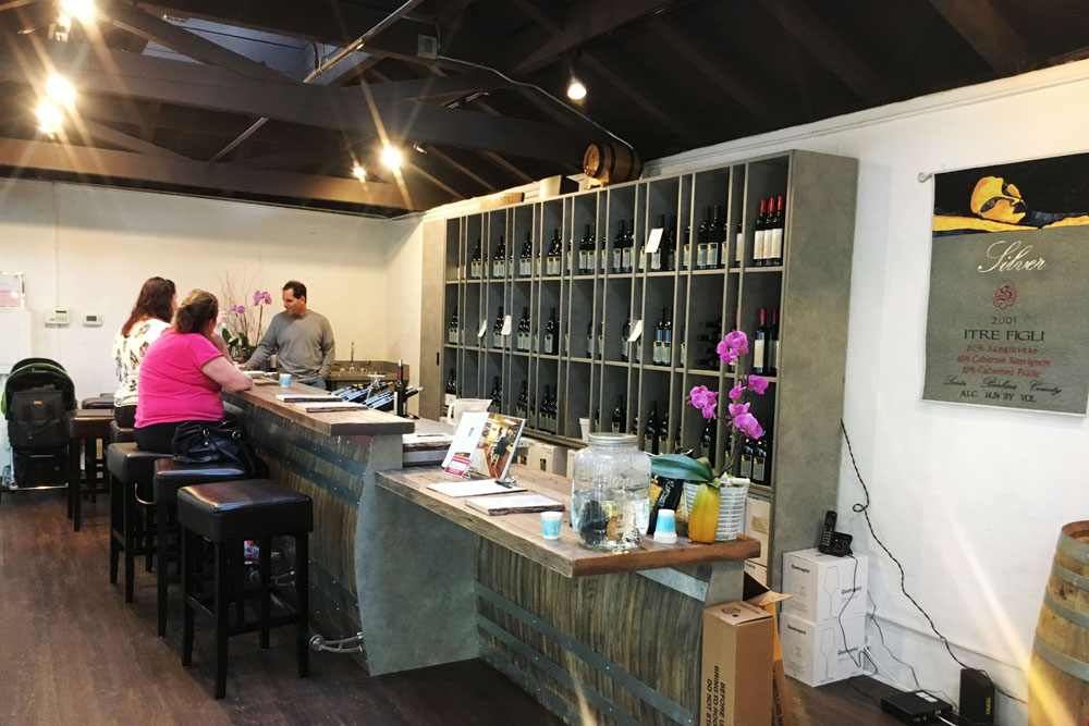 The Silver Wines tasting room on Anacapa Street is the newest addition to the El Paseo courtyard.
