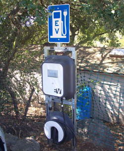 The new public electric-vehicle charging station at the Santa Barbara Botanic Garden will open Friday with a ribbon-cutting ceremony.