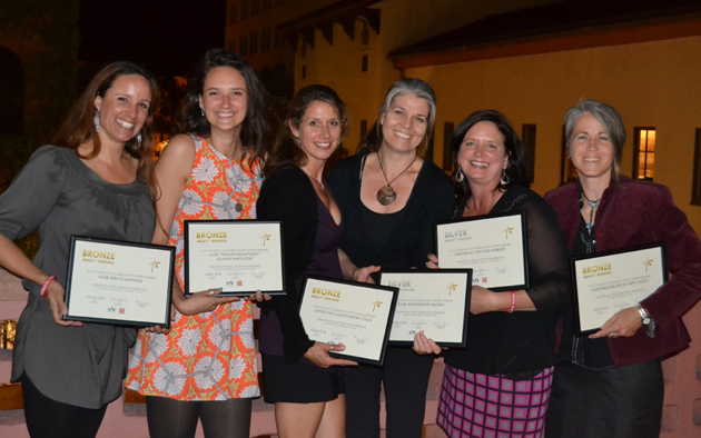 <p>The Fritz Creative Marketing team after the 2014 American Advertising Awards, from left, Katie Dee Jensen, Mandi DeVos, Kim McIntyre, Pamela Poppert, Kathy Bryant and Monika Petroczy.</p>