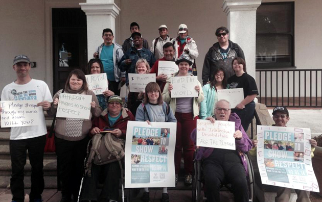 "<p>Special Olympics and PathPoint led a protest rally March 5 in downtown Santa Barbara to ""End the R-Word.&#8221;</p>"