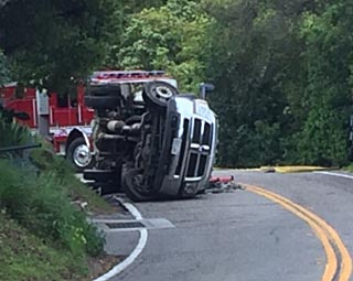 One person was injured during a rollover accident on Toro Canyon Road Monday morning.