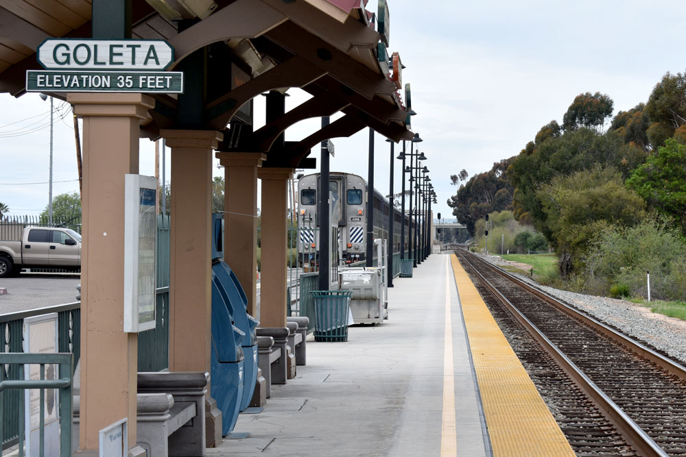 New Amtrak train schedules geared to commuters between Ventura and Santa Barbara counties are on track to begin April 2. The route will include the Goleta station, above, where bus service will be provided to nearby employment centers.