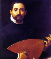 Composer Giovanni Gabrieli, as painted by Annibale Carracci in 1600.