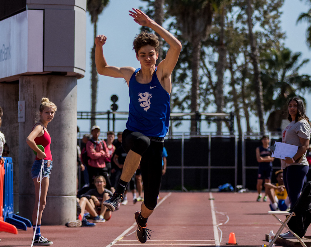 Jayden Mata finished second in the triple jump and long jump and won the high jump for San Marcos.