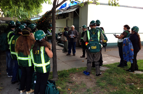 CERT members learn about their responsibilities during the final training exercise. (City of Goleta photo)