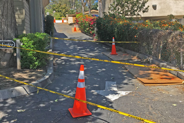 More than 1,000 customers in the Montecito area lost power Friday after a construction crew struck a high-voltage line on Coast Village Road.