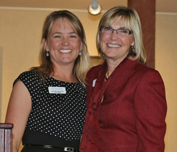 Outgoing board chairwoman Michelle Martinich, left, with Visiting Nurse & Hospice Care President/CEO Lynda Tanner. (Visiting Nurse & Hospice Care photo)