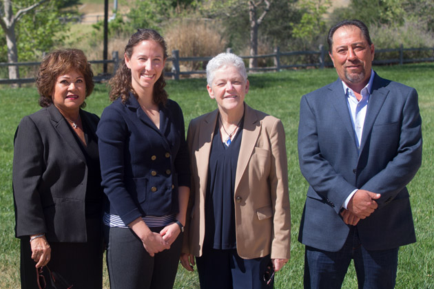 From left, Maxine Littlejohn, Kelly Ferguson, Environmental Protection Agency Administrator Gina McCarthy and Santa Ynez Band of Chumash Indians Chairman Vincent Armenta.