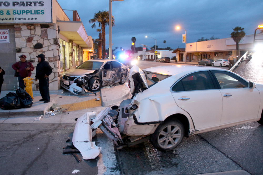 Moving Van Hits Parked Vehicles In Old Town Goleta Sending One Into Nearby