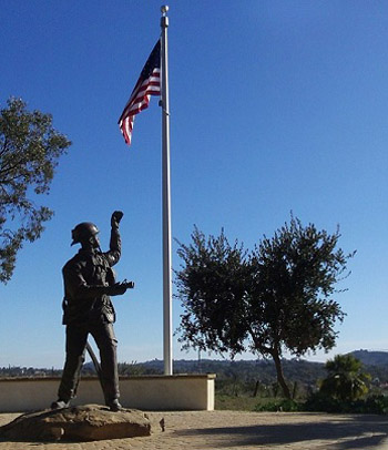 The Santa Barbara County Firefighters Benevolent Foundation funded the newly constructed Fallen Firefighter Memorial.