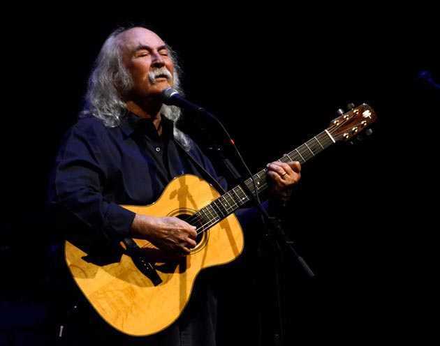 David Crosby made a special appearance at Thursday night's Encore: Lobero event. (Gary Lambert / Noozhawk photo)