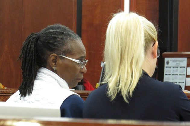 Wanda Nelson, left, was sentenced Friday to five years probation following her conviction for involuntary manslaughter in the death of Solvang ALS patient Heidi Good in 2013.