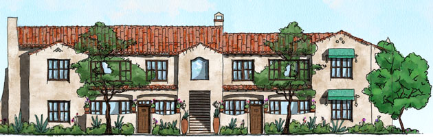 <p>Peoples' Self-Help Housing will break ground April 10 on Casas de las Flores, a 43-unit, multifamily apartment project at 4096 Via Real in Carpinteria. (Peoples' Self-Help Housing courtesy rendering)</p>