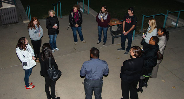 <p>A gathering was held at UCSB on Wednesday night in memory of Giselle Ayala, a Cal Poly student who died last year in a fall from the Isla Vista bluffs during the &#8220;Deltopia&#8221; weekend.</p>