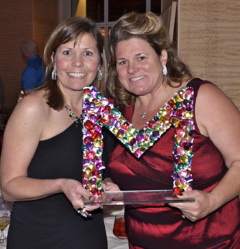 Marymount development director Andrea McFarling, left, and auction chair Jenny Scholl.