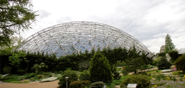 The Climatron, built in 1960, is the world's first climate-controlled geodesic dome designed as a greenhouse.