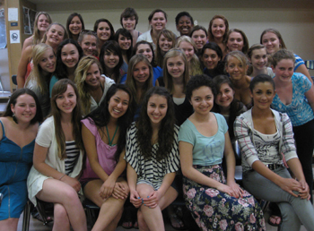 San Marcos High's Enchante received the first-place trophy for Women's Choirs and the top overall choir score at the Heritage Festival in San Diego.