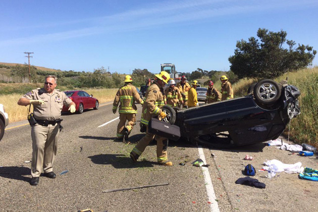 Driver Suffers Moderate Injuries in Rollover Crash on
