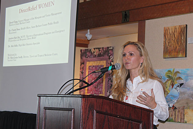 Dr. Charity Dean, public health director for Santa Barbara County, was among local health experts discussing the risks of the dreaded Zika virus during a recent forum.