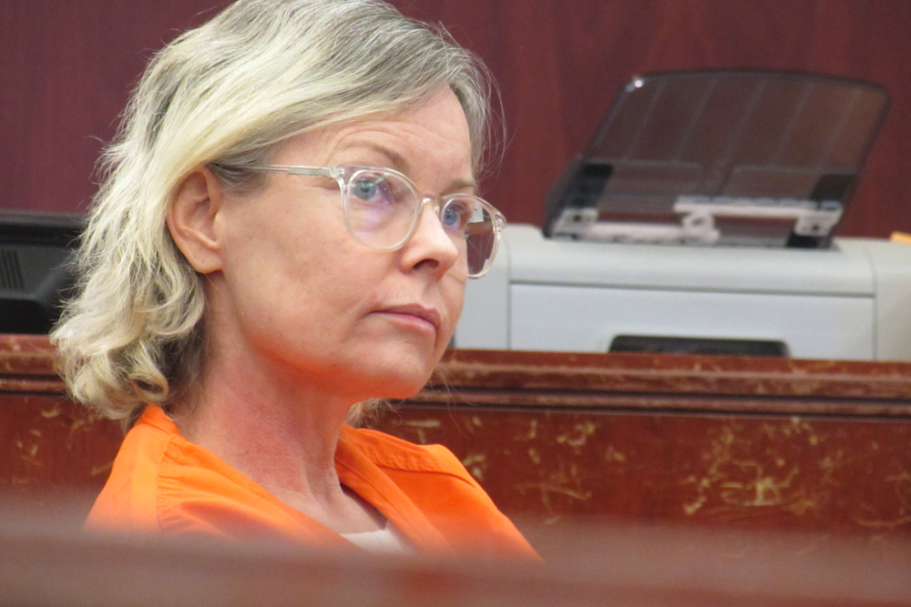 Jensen Buchanan sits in Santa Barbara County Superior Court on Friday for the third day of her probation violation hearing.