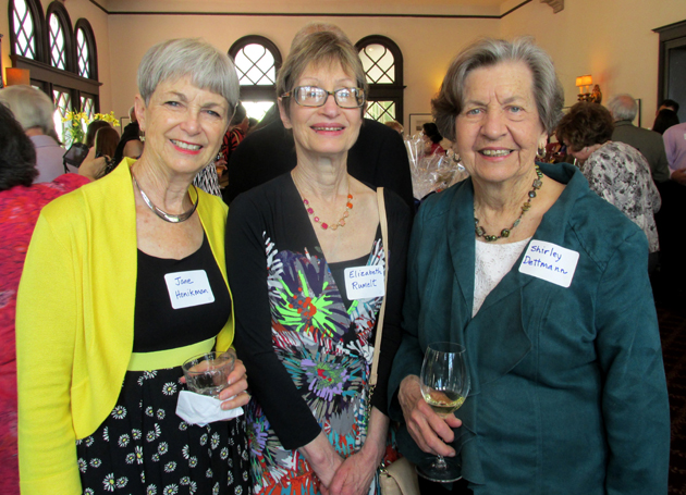Jane Honikman, left, Elizabeth Runel and Shirley Dettmar.
