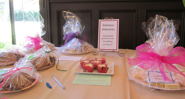 Homemade goodies were also up for bid.