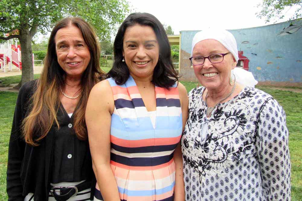 Girls Inc. of Carpinteria Executive Director Victoria Juarez, center, with honorees Nini Seaman, left, and Asa Olsson at the 2017 Girls Inc. of Carpinteria Women of Inspiration Luncheon.