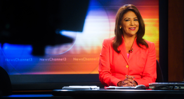 KEYT News' Paula Lopez returns to the anchor desk for Monday night's television broadcasts, six weeks after her daylong disappearance became the focus of media attention and an extensive search by the Santa Barbara County Sheriff's Department. (Lara Cooper / Noozhawk photo)