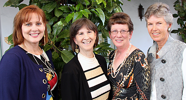 "<p>CAMA Women's Board members, from left, Deborah Bertling, Cynthia Brown, Ellen Parton and Judy Writer at the Women's Board&#8217;s ""A Class Act"" fundraiser Sunday at the Wine Cask.</p>"