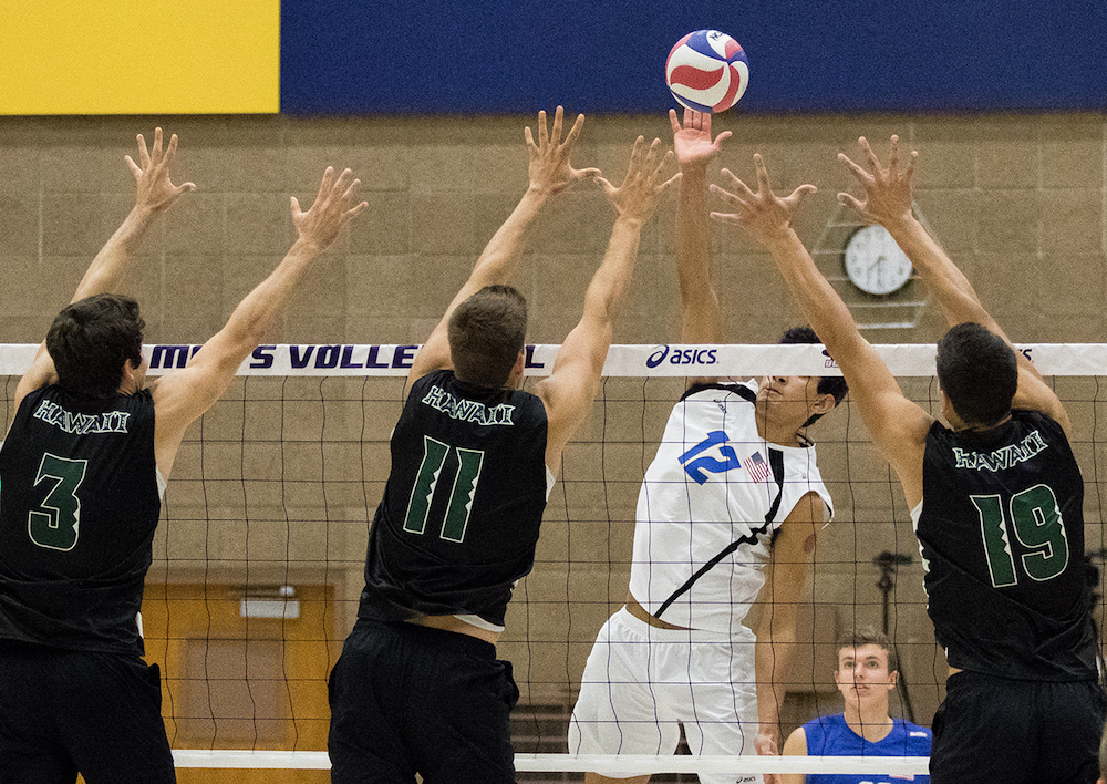 Hawai'i's Blocking Diffuses UCSB Attack in Big West ...