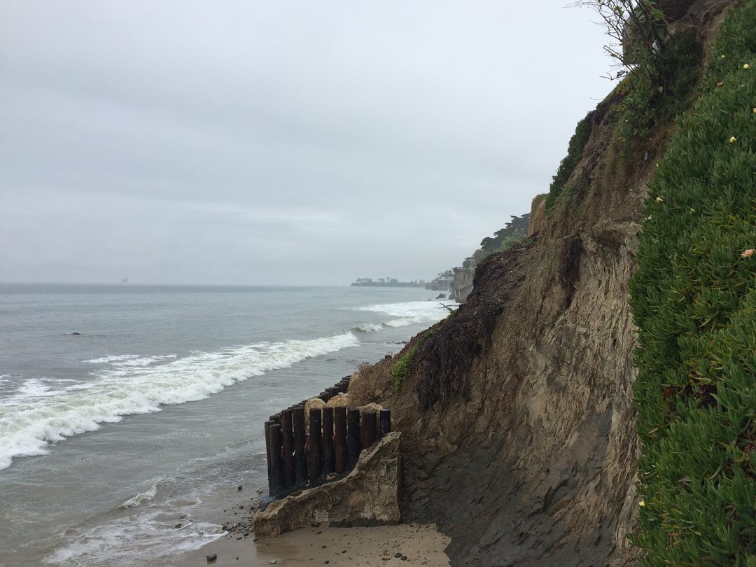Overcast weather and showers are forecast through the weekend for Santa Barbara County.