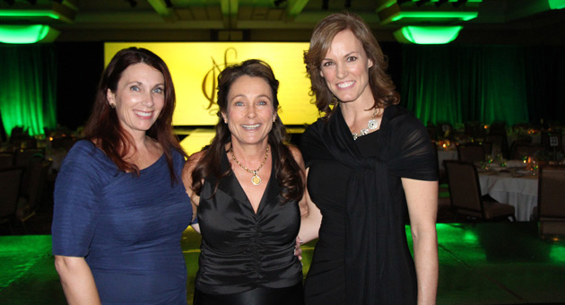 <p>National Charity League of Santa Barbara Senior Presents chairs, left, Luann Caesar and Ann Marquis, right, with chapter president Lana McIntyre.</p>