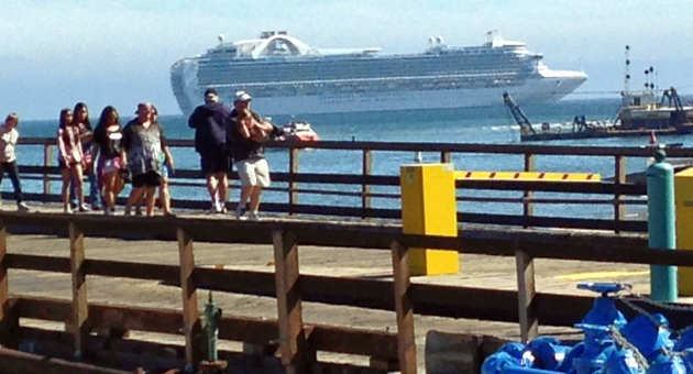 The Crown Princess arrived in Santa Barbara on April 9 with a boatload of sick people, prompting an outbreak of concern over our own health and well-being. (Lara Cooper / Noozhawk photo)