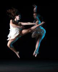 UCSB dancers take to the air for their spring dance concert. (Philip Channing photo)