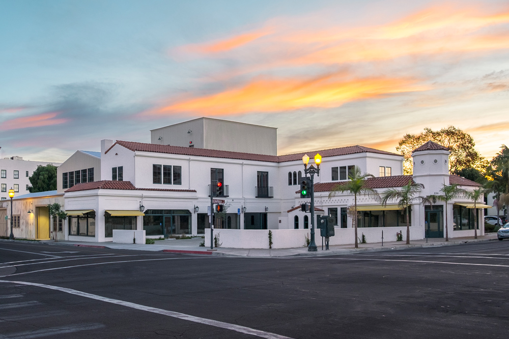 Two buildings — at 530 Chapala St. and 25 W. Cota St. — in downtown Santa Barbara.
