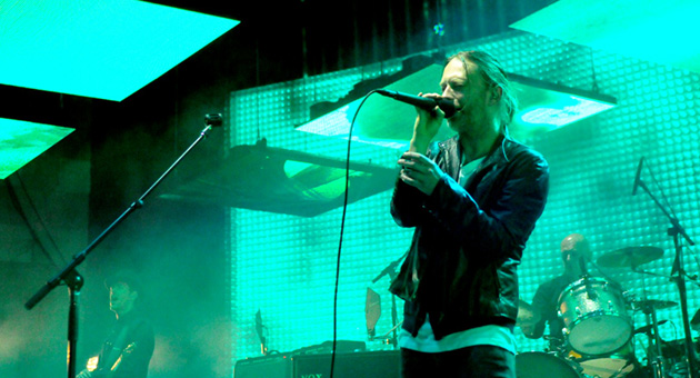<p>Radiohead and lead singer Thom Yorke perform before a sold-out crowd Thursday night at the Santa Barbara Bowl.</p>