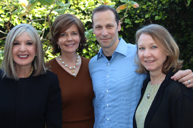 Special guest interviewer Hank Phillippi Ryan, left, and celebrity authors Francis Schultz, Gregg Hurwitz and Meg Waite Clayton were center stage at the CALM Auxiliary's 30th annual Celebrity Authors Luncheon at The Fess Parker in Santa Barbara.