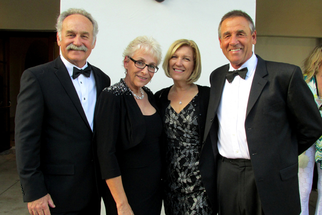 Sponsor Frank Schipper Construction was represented by Paul Wieckowski and wife Dona, left, and Bonnie and Tom Weinberg at the Council on Alcoholism and Drug Abuse's 25th annual Amethyst Ball.