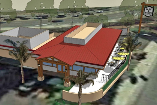 Cajun Kitchen Café aims to spice up a restaurant wasteland in the 6000 block of Calle Real in Goleta. (Cajun Kitchen Café rendering)