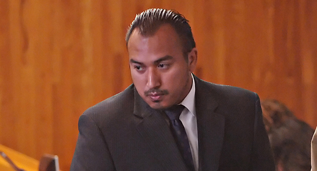 <p>Raymond Morua appears in court on Tuesday, where he pleaded guilty to manslaughter, hit-and-run and other charges in the death of Mallory Rae Dies last December.</p>