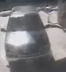 Suspect vehicle sought in Tuesday's hit-and-run at State Street and Calle Palo Colorado.