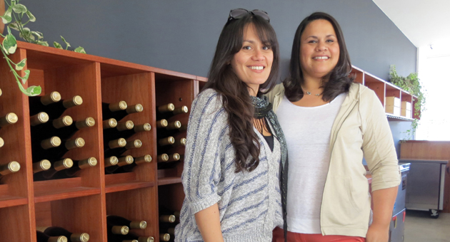 <p>Sisters Liz Morello, left, and Mirella Ramirez will manage the new Lafond Winery tasting room on Yanonali Street, beside its sister winery, Santa Barbara Winery. The Santa Barbara natives say the tasting room, Lafond&#8217;s second, is set to open May 1.</p>