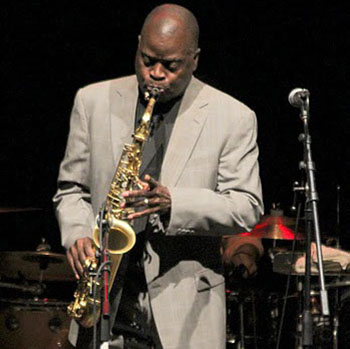 Maceo Parker gets funked up at Campbell Hall on Sunday night.